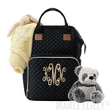 monogrammed diaper bag backpack marleylilly