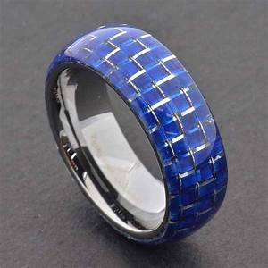 15 Best Ideas Of Men39s Black And Blue Wedding Bands