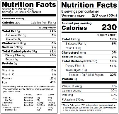 label cuisine fda 39 s delay of nutrition facts label a to