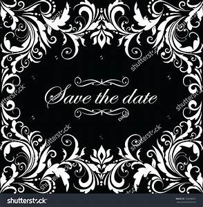 vintage wedding invitation black and white stock vector With black and white wedding invitations vector