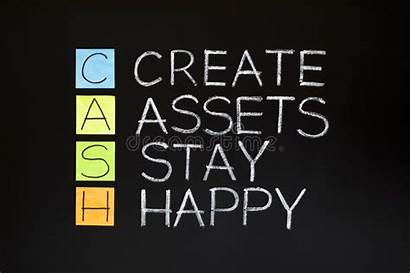 Cash Acronym Contanti Dei Het Acroniem Happy