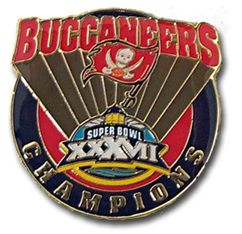 Super Bowl Xxxvii 37 Tampa Bay Buccaneers Champs Pin
