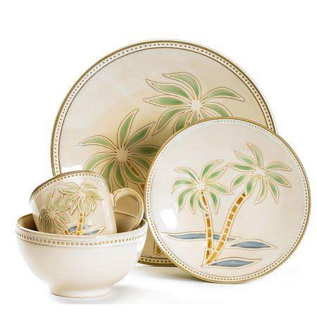 pfaltzgraff  pc palm tree dinnerware set bealls florida