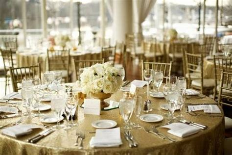 """Lot Of 10 120"""" Round Gold Sequin Tablecloths Bling Glam"""