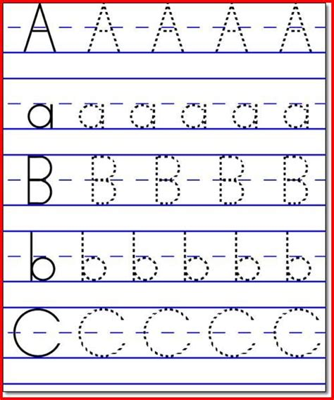 abc worksheet for preschool collection kindergarten abc worksheets pictures 660
