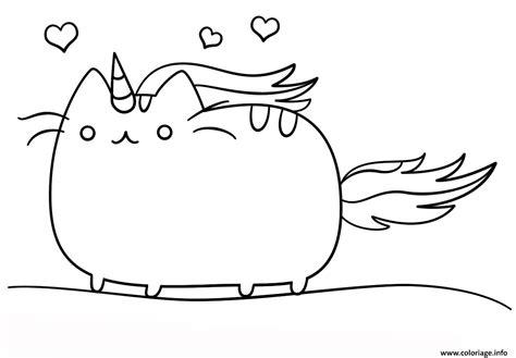 Coloriage Kawaii Cat Dessin