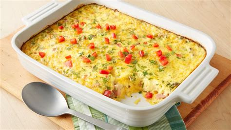 egg casserole for brunch overnight brunch egg bake recipe pillsbury com