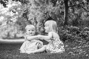 Black-and-white-photo-of-two-little-girls-holding-hands ...