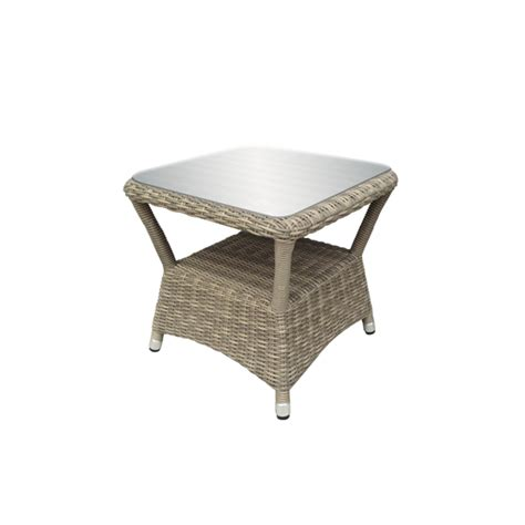 Oseasons Eden Rattan Sidetable With Glass Top £12900