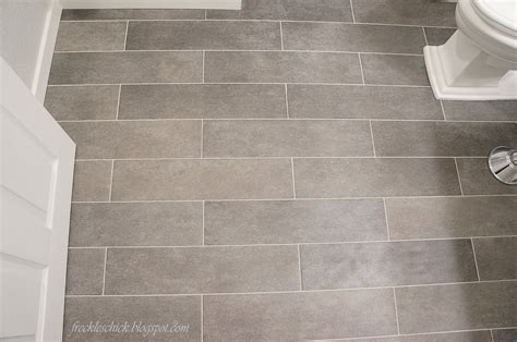 Gray Plank Tile Bathroom Freckles Plank Bathroom Floor Tiles