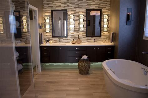 kitchen wall faucet wood in bathroom floor brown finish varnished wooden