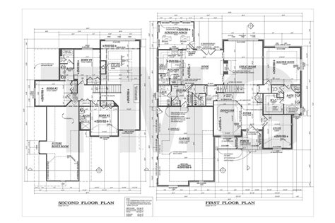 house foundation plan second floor home plans