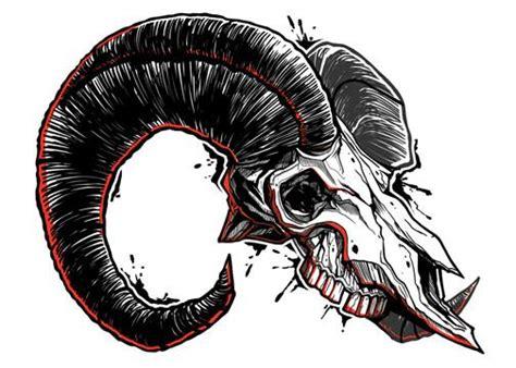 Ram Savage Skulls Temporary Tattoo Tatt