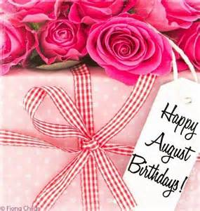 Happy Birthday August Babies