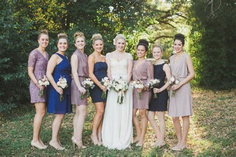 Style Mismatched Bridesmaids Gowns