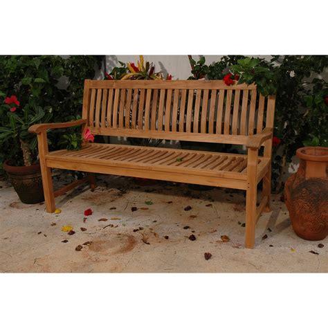anderson teak del amo teak garden bench wayfair