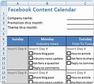 day 1 create your facebook page day 2 optimize your With facebook posting schedule template