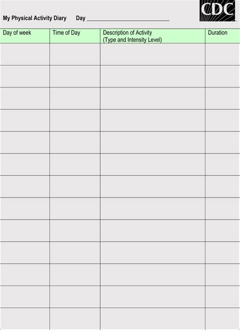blank workout log sheet templates  track  progress