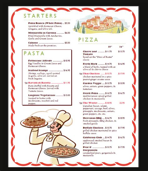 menu card template 42 sle menu cards sle templates
