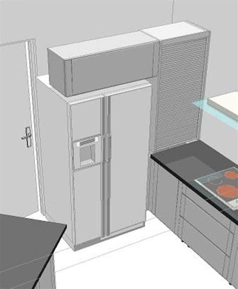 meuble cuisine frigo meuble frigo americain