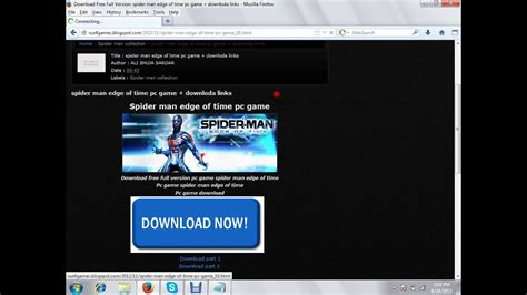 spider man edge  time pc game   youtube
