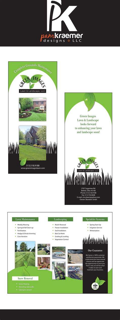 brochure design   lawn  landscape company