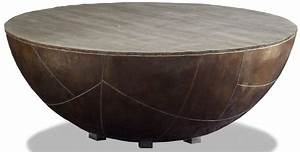 delano antiqued brass drum coffee table dl502 brownstone With brass drum coffee table