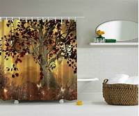 nature shower curtains OLD SCARY TWISTED TREE AUTUMN NATURE BUTTERFLIES HALLOWEEN NEW SHOWER CURTAIN | eBay