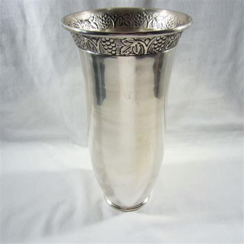 pottery barn vintage vine large silver pewter vase shoaza