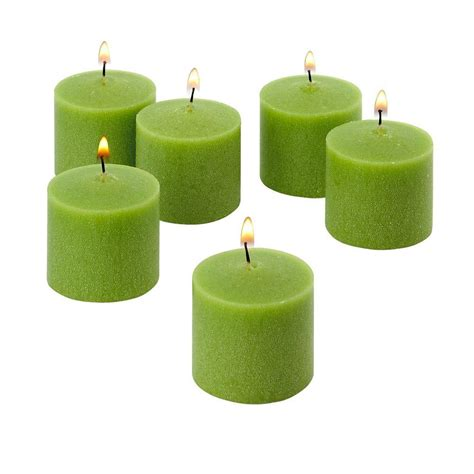 Light In The Dark 10 Hour Lime Green Unscented Votive