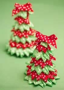 ribbon tree and craft ideas festive ribbon christmas trees woman s weekly decorations