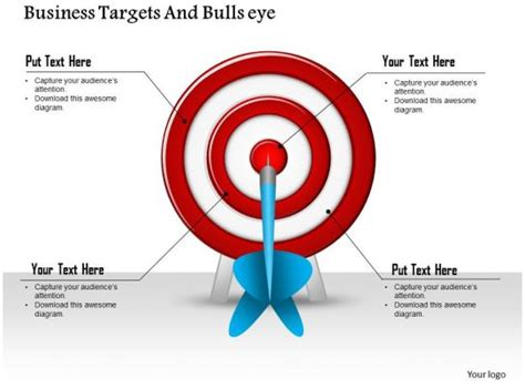 business targets  bullseye powerpoint