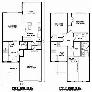 High quality simple 2 story house plans 3 two story house for Two storey house design and floor plan