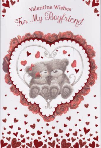 valentine wishes   boyfriend personalised braille  card