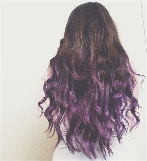 Brunette To Purple Ombre Dip Dye Hair Hair Pinterest