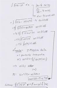 Integration Berechnen : integral von f x 16 x 2 durch substitution berechnen mathelounge ~ Themetempest.com Abrechnung