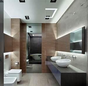 carrelage pierre naturelle et meubles depareilles d39un With salle de bain design avec décoration plafond anniversaire