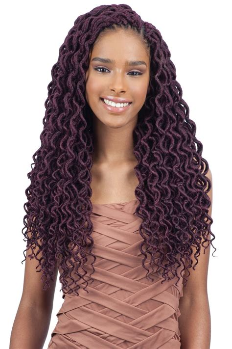 attractive faux locs crochet hair  natural hairstyles