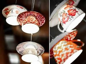 Fabriquer Une Lampe De Chevet : 1000 id es sur le th me lampe th tasse sur pinterest ~ Zukunftsfamilie.com Idées de Décoration
