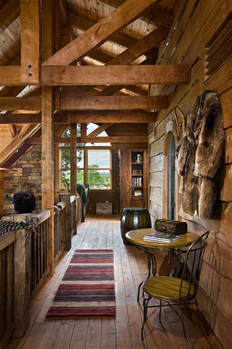 log home  barn wood  western decor traditional