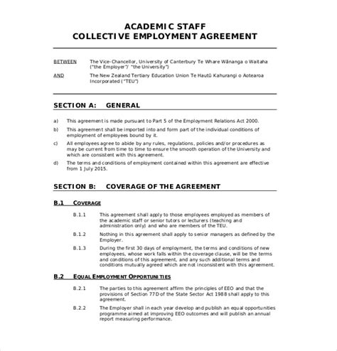 employment agreement templates  word  format