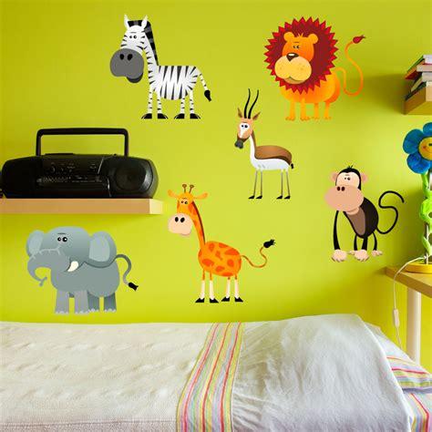stickers muraux animaux de la jungle sticker 6 animaux de la jungle stickers animaux animaux de la jungle ambiance sticker