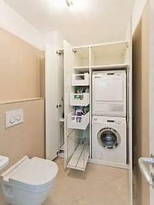 Regal Für Waschmaschine : ideen f r die waschk che waschmaschine und trockner bereinander gestapelt im einbauschrank ~ Sanjose-hotels-ca.com Haus und Dekorationen