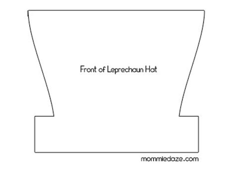 Leprechaun Hat Template Printable by St S Day Crafts Leprechaun Hat Printable This