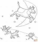 Coloring Diddle Hey Pages Moon Cow Fiddle Cat Jumped Moo Clack Printable Jumping Mother Dot Template Drawing Print Crafts Puzzle sketch template