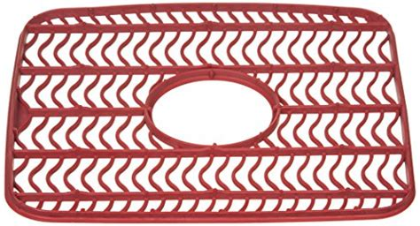 rubbermaid antimicrobial sink protector mat red waves