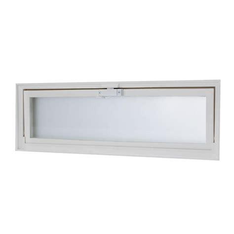 basement hopper vent vinyl glass window block  screen