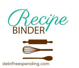 Free Printable Recipe Binder Cover Page