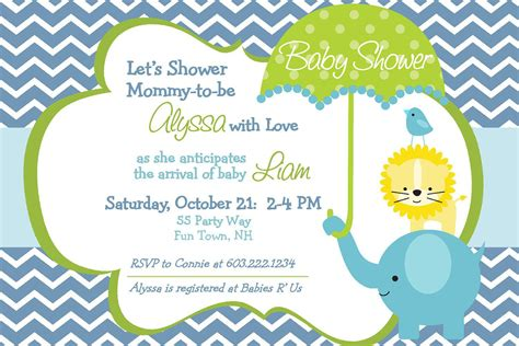 Baby Shower Templates Free - baby shower invitation templates baby shower invitation