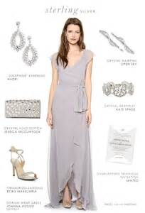 nadri earrings gray dress for bridesmaids